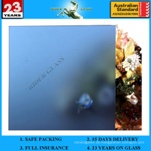 4-12mm Dunkelblaues Säure geätztes Glas mit AS / NZS2208: 1996