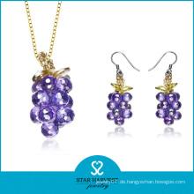 Vogue Purple Silber Schmuck Set mit preiswertem Preis (J-0151)