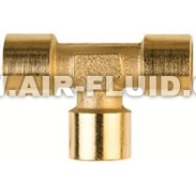 BSP Feale-Female- Female Tee Nickel Plated Brass Fittings