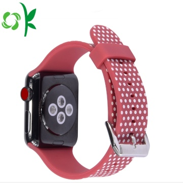 Bracelets de montre en silicone 3D gaufré pour Apple Watch