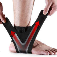 Hot Sale Ankle Brace Compression Sleeve with Adjustable Strap Ankle Support