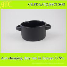 Снаружи Матовый Черный Держатель Чаша, Керамический Чаша Супа для оптовой продажи