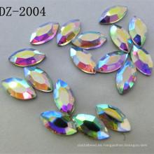 Rhinestone caliente cristalino del arreglo de 4 * 8m m Navette en color del Ab