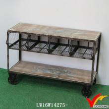 Malha de armazenamento de cozinha Vintage Trolly Industrial