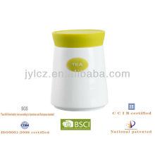Silikon Deckel mit Keramik Zucker Tee Kaffeekanne