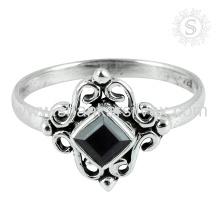 Bijoux Fashion Fashion Bijoux Black Onyx Gemstone Bijoux en argent sterling Exporter