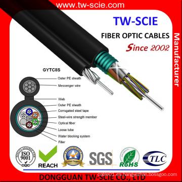 Gytc8s Aerial Steel Messenger Cable de fibra óptica