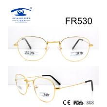 Круглая форма Золотая металлическая оптическая рамка (FR530)