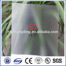 durable polycarbonate frosted sheet for bathroom/indoor partiton