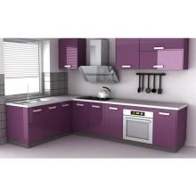 Armário de madeira lustroso para a mobília Home da cozinha (personalizada)