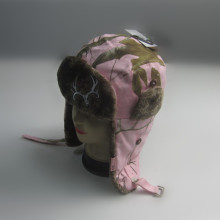 Rosa bomull / Polyester Print Trapper Hat