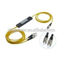 Мини-АБС / кассетный / конусный короб типа FBT сплиттер, 1 2 1x2 1 * 2 FC UPC / PC оптический разветвитель, одиночный режим 1,5 метра