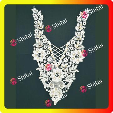 Embroidery Collar 3D Lace fabric Wanita
