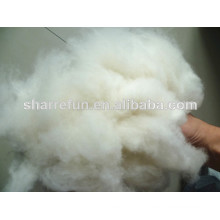 dehaired and carded cashmere fiber light grey 16.5mic/36-38mm for spinning yarn