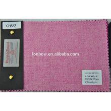 tecido rosa tweed
