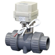 2 Way Electric Flow Control PVC Ball Valve Motorized Water PVC Valve with CE (A100-T32-P2-C)