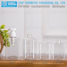 La serie TB-D 100ml 130ml 240ml 280ml cuadrado/rectángulo caliente-vendiendo alta calidad mano cosméticos/jabón líquido botella pet