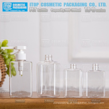 TB-D série 100ml 130ml 240ml 280ml quadrado/retângulo devenda alta qualidade mão cosméticos/sabão líquido frasco do animal de estimação