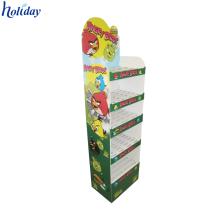 Unités d'affichage debout libres pliables promotionnelles pliables de carton de conception faite sur commande de conception
