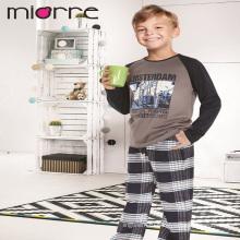 Miorre OEM оптовые хлопок дети мальчик напечатано пижамы комплект пижамы