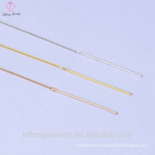 Gold Supplier For 0.7Mm Sterling Silver 925 Gold Box Chain