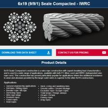 Ascensor / Excavadora / Pesca / Polipasto / grúa / Cable de perforación compactada 6 * 19KWRC