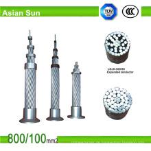 Aluminium verkleideten Stahl verstärkten ACSR Kabel