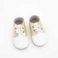 High Ankle Leather Baby First Walker Skor Girls
