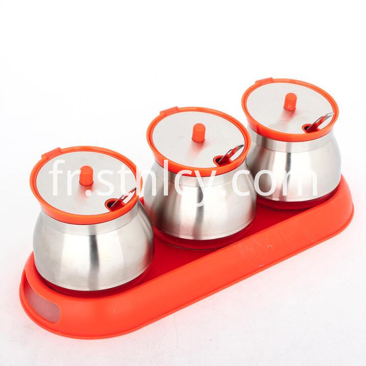 Stainless Steel Spice Jar Set