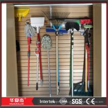 Garagem de armazenamento slat wall panel pvc slat wall