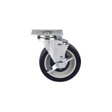 Roulette de taille moyenne de 125 mm, roulette de supermarché