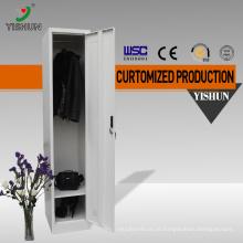 Material compacto da venda direta da fábrica usou o armário da roupa dos armários do metal da única porta