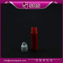 new style mini pocket 5ml plastic with steel ball roll on bottle hair oil bottles