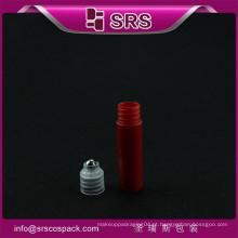 Novo estilo mini plástico de bolso 5ml com rolo de bola de aço em garrafa garrafas de óleo de cabelo