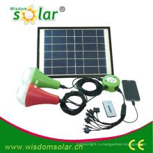 9W портативный CE домашнего использования привело комплект солнечного освещения для аварийного освещения с 2 Светодиодные bulbs(JR-SL988B)
