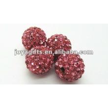 Shamballa bola de cristal de argila para pulseira, brinco, colar