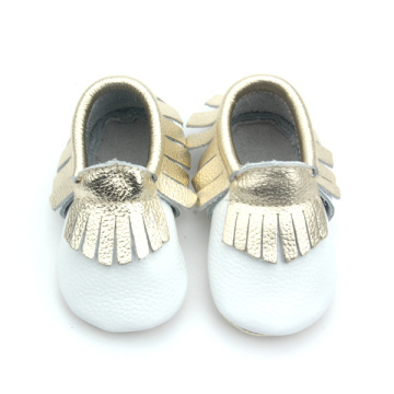 Snygga spädbarnsskor, Cow Leather Baby Moccasin Shoes