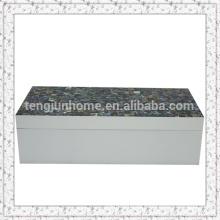 Kleine Abalone Schale grüne Schale Ohrring Box