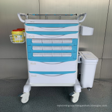 Hospital Steel ABS Convenient Medicine Trolley