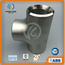 Raccords de soudure bout à bout en acier inoxydable Tee égal avec TUV (KT0328)