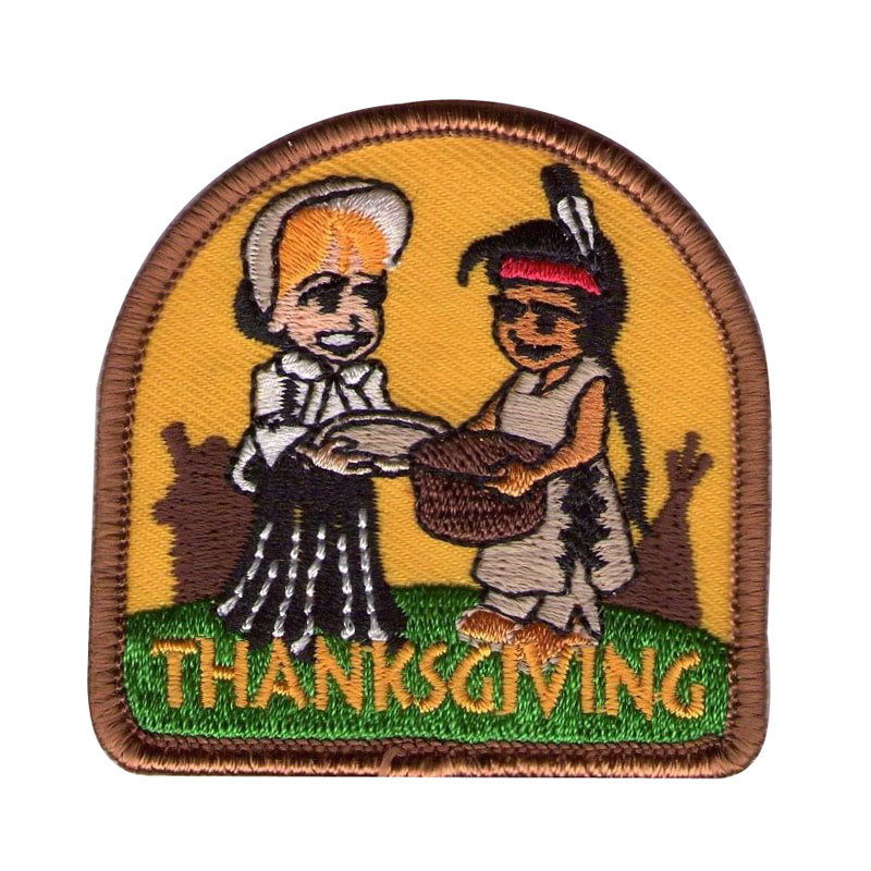 Thanksgiving Day Embroidery Patch
