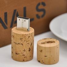 Lumière d'entraînement d'instantané d'USB de conception en bois de cylindre