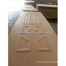 MDF tecelagem de madeira folheado porta natural com preço barato