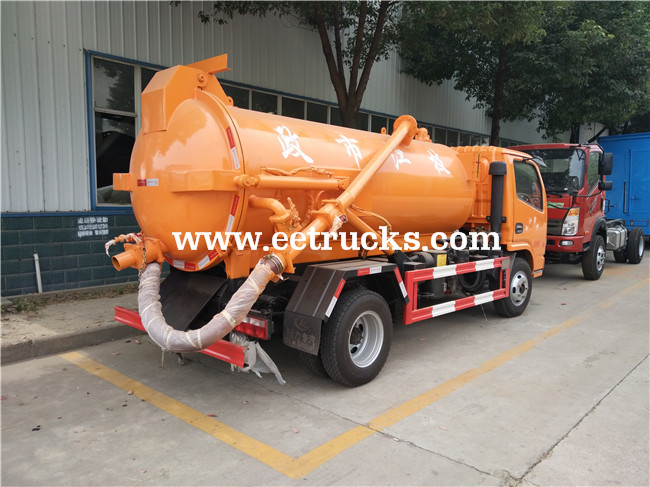 5 CBM Sewage Suction Trucks