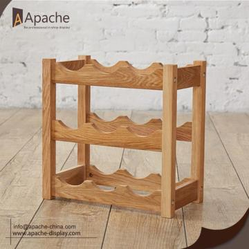 Wooden Table-top Wine Floor Display Shelf