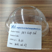 Disposable Pet Clear Cup Lid