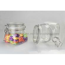 Haustier Plastik luftdichtes Nahrungsmittelglas für süße Süßigkeit (PPC-37)