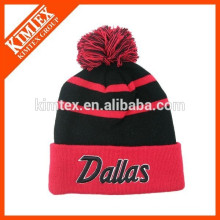 Оптовые зимние хип-хоп на заказ акриловые шапочки с шариком