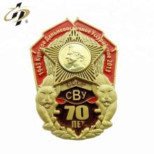 L'usine meurt a frappé l'insigne de casquette de souvenir militaire de l'émail 3d personnalisé
