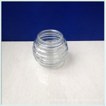 Clear Round Shaped Glass Candle Jars for Decoration on Sale